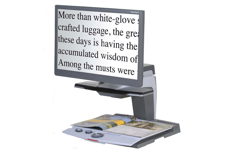 Clearview magnified vision reader