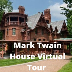 Mark twain house and link to virtual tour